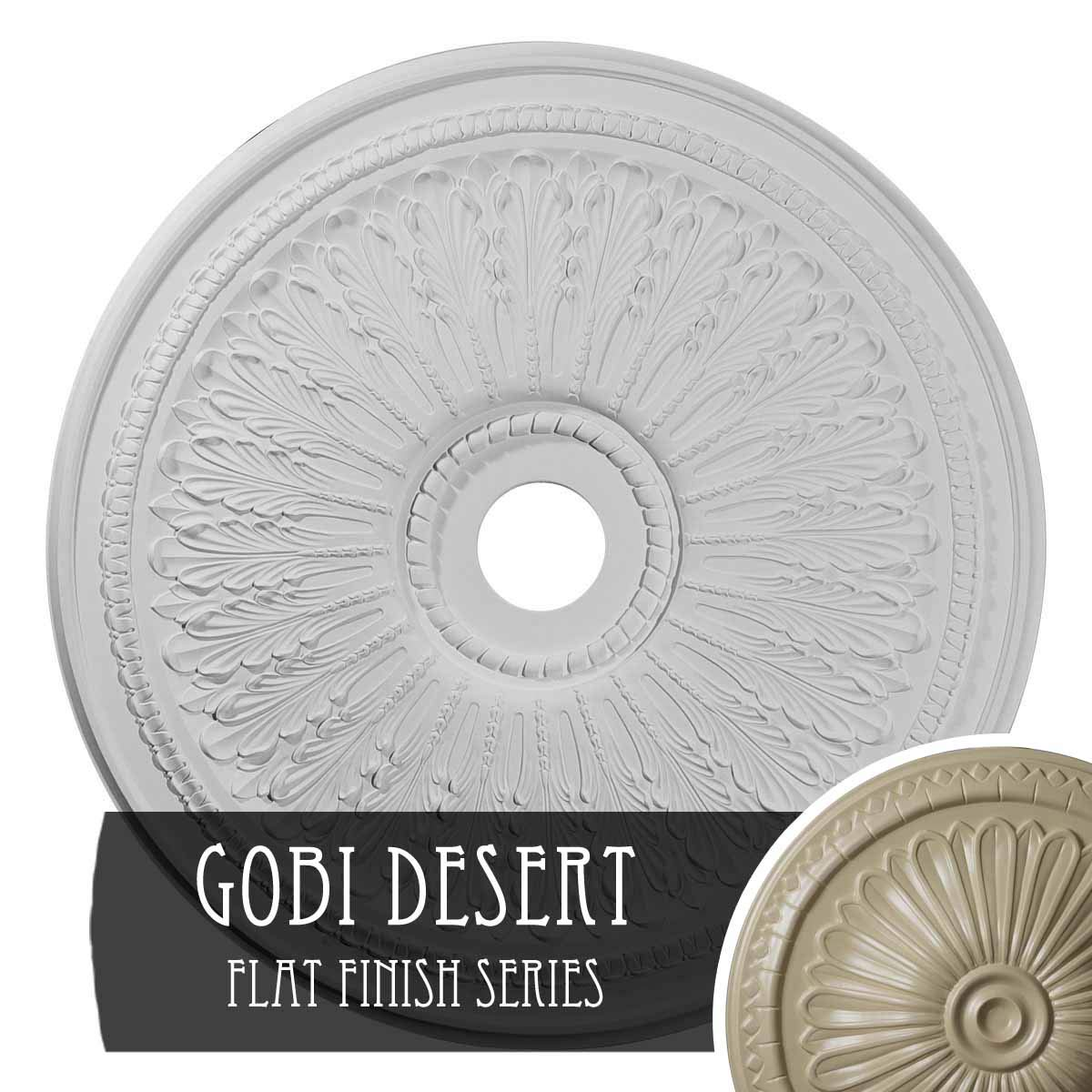 Ekena Millwork CM29OAGDF 29 1/8'' OD x 3 5/8'' ID x 1'' P Oak Leaf Ceiling Medallion fits Canopies up to 6 1/4'', Gobi Desert