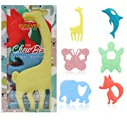 ChewBox Baby Teether Set - 6 Pack (Animal Edition)