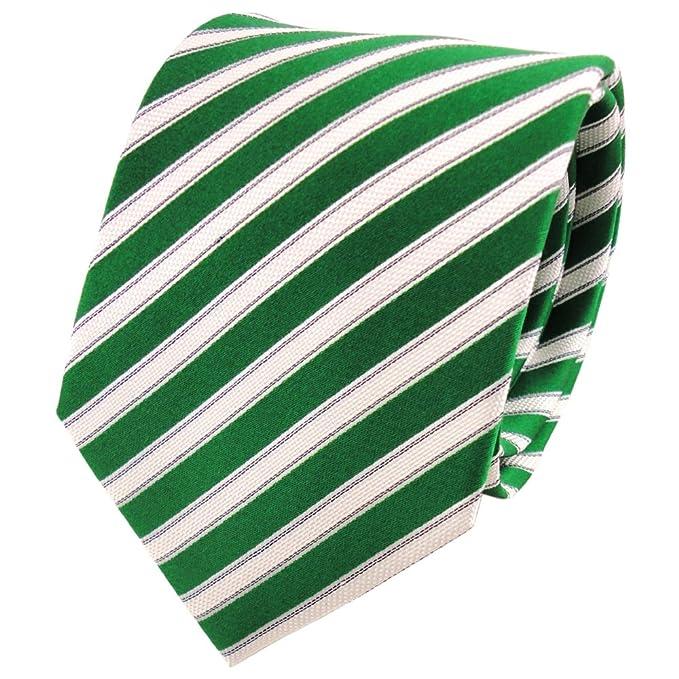 TigerTie diseñador corbata de seda - verde esmeralda negro blanco ...