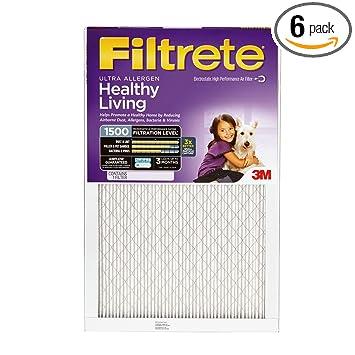 16x30x1, filtrete allergen reduction air filter, merv 11, by 3m ...