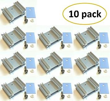 10Pcs TO-220 Silver Heatsink Heat Sink for Voltage Regulator//MOSFET 15*20 Screw