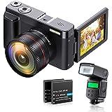 ZORNIK 1080P digitalkamera, Ultra HD 44 MP videokamera, med ultraHigh-Definition vidvinkellins 16X digital zoom, extern…