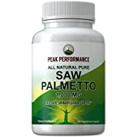Saw Palmetto Capsules for Men and Women by Peak Performance. 1000mg All Natural...