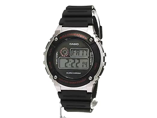 Amazon.com: Casio Mens Illuminator Quartz Resin Watch, Color:Black (Model: W-216H-1CVCF): Casio: Watches
