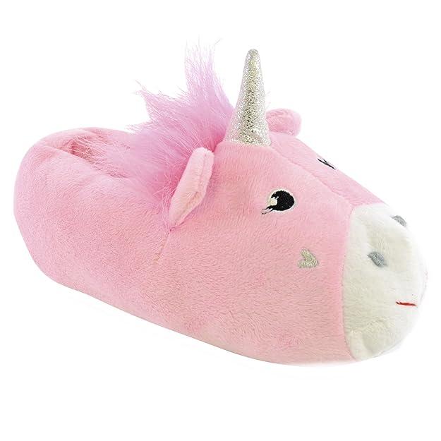 SlumberzzZ Niñas 3D Unicornio Zapatillas Novedad: Amazon.es: Zapatos y complementos