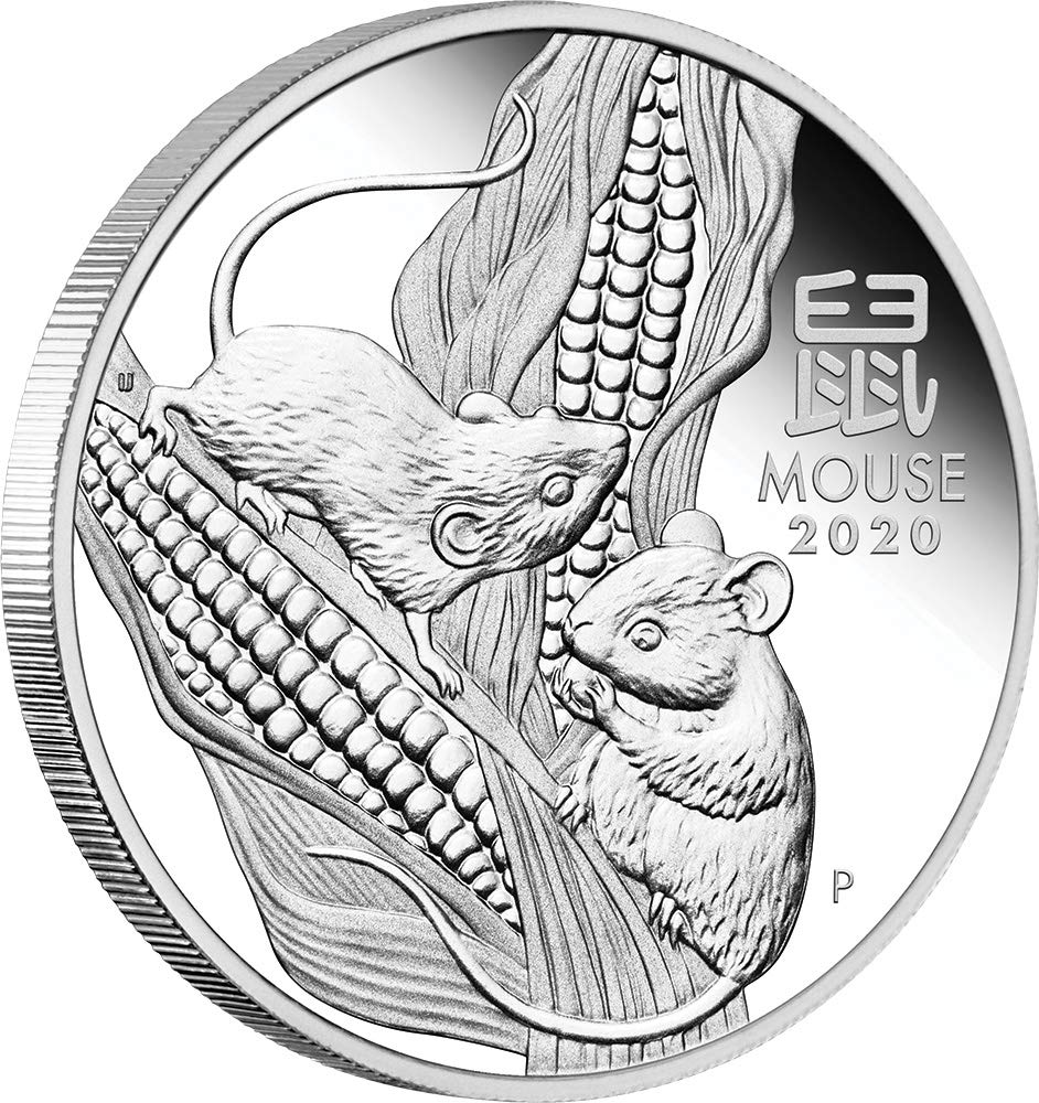 2020 Australia COLORED PROOF Lunar Year of the Mouse 1oz Silver $1 Coin Series 3