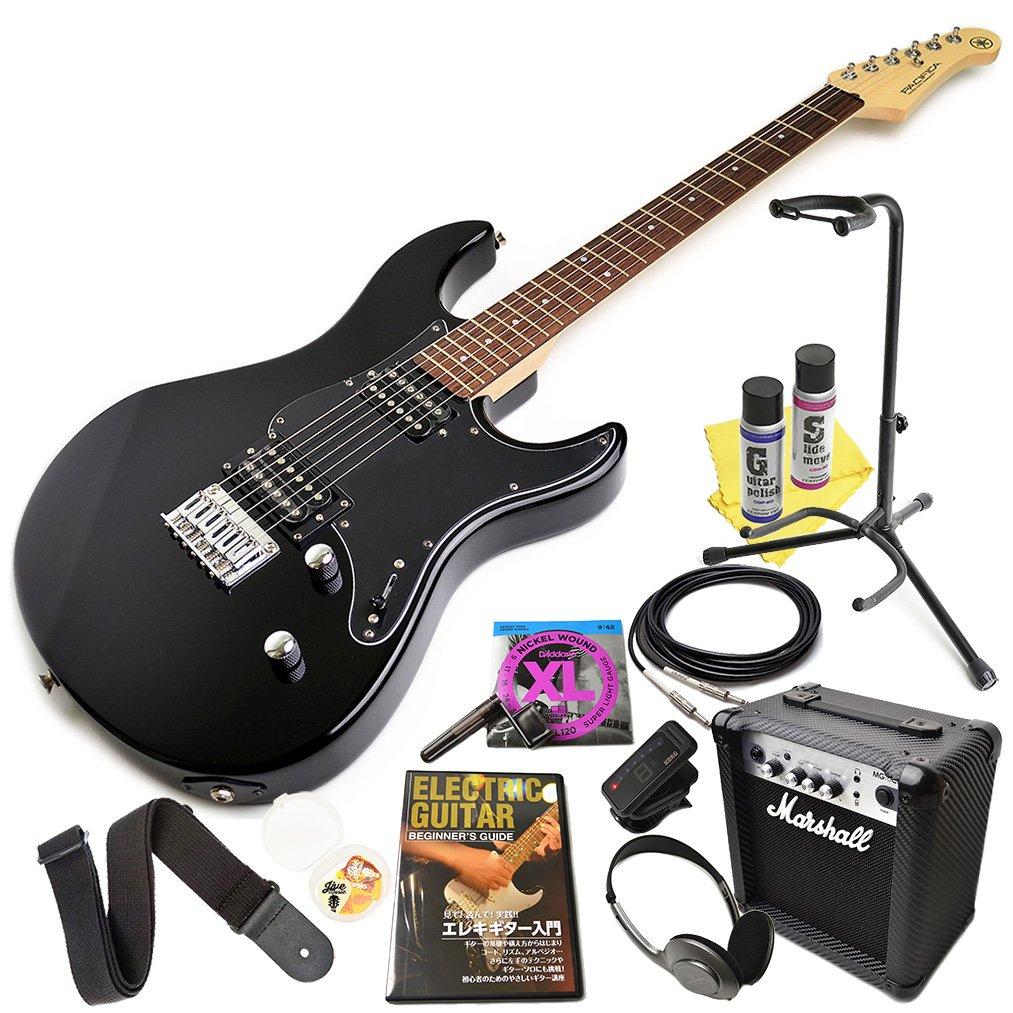 ヤマハ エレキギター 初心者セット YAMAHA PACIFICA120H BL ブラック マーシャルアンプ付属 エレキ 17点 入門セット パシフィカ Marshall MG10CF 120H  BL(ブラック) B076KL7761