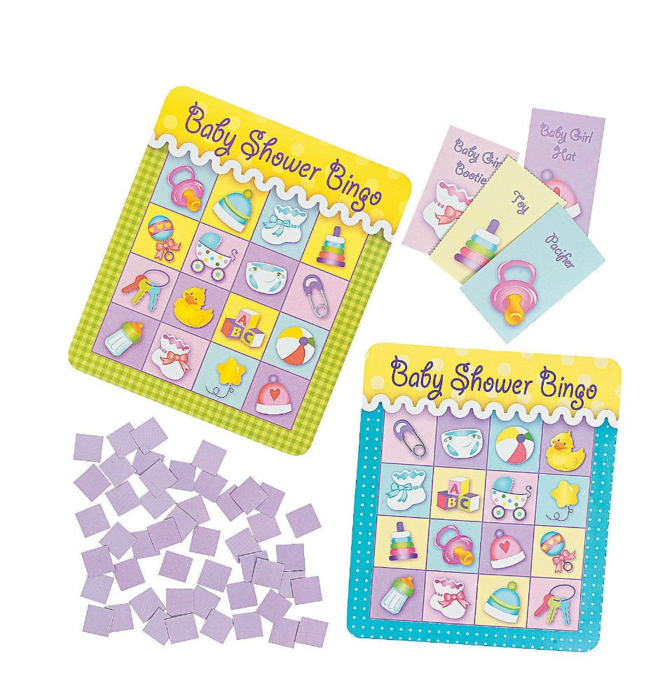 Baby Shower Party Game Activity Ice Breaker BABY BINGO for 8 Guests