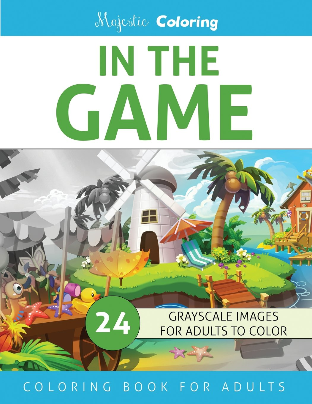 Amazon In The Game Grayscale Coloring Book For Adults 9781537313436 Majestic Books