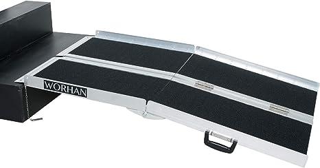 Fabbricante Worhan GmbH WORHAN RAMPA Antisdrucciolo CARICO A Valigia in Alluminio Max 272 kg per Sedia A ROTELLE Grande Selezione 305cm R10J