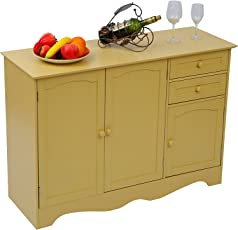 Home Like Kitchen Buffet Wood Storage Cabinet Sideboard Island Table Free Standing