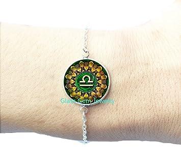 Amazon.com: Libra Zodiac pulsera pulseras de, Libra, Libra ...