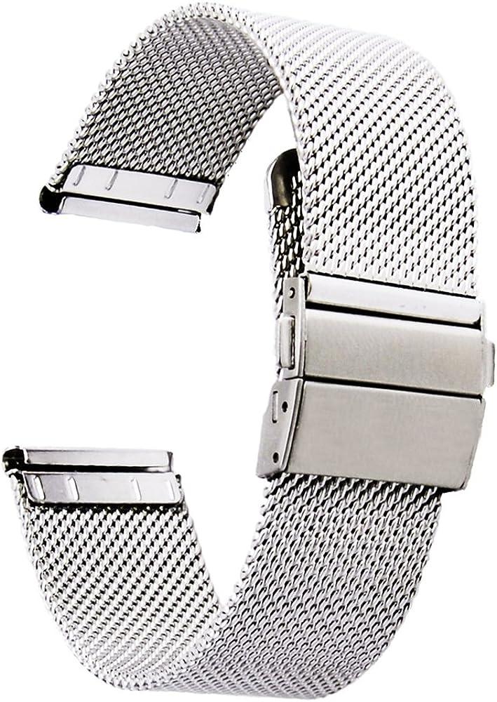 [Zhuge] Reloj Correas Double-Press Cierre Hebilla Malla gdfb Reloj Bandas 18mm 20mm 22mm