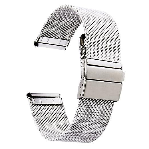 [ZHUGE] Correas de relojes - Nuevo estilo de doble-presión Hebilla de cierre Milanese Mesh Correa de reloj de 18 mm 20 mm 22 mm: Amazon.es: Relojes