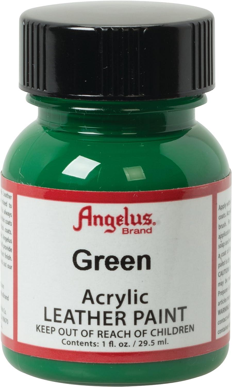 Pintura De Cuero Acrilico Angelus. verde
