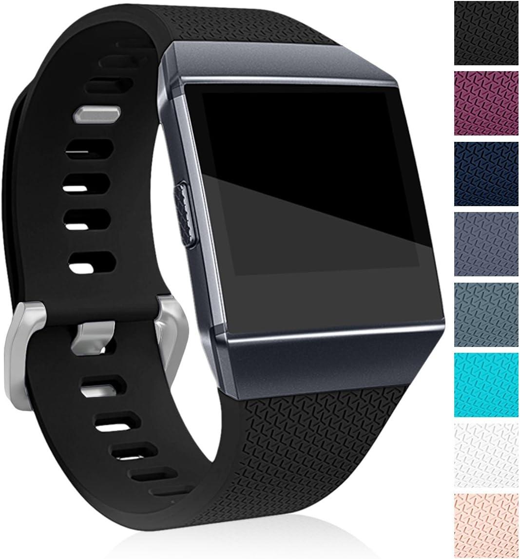 Malla Para Reloj Fitbit Ionic (negra, Talle L)