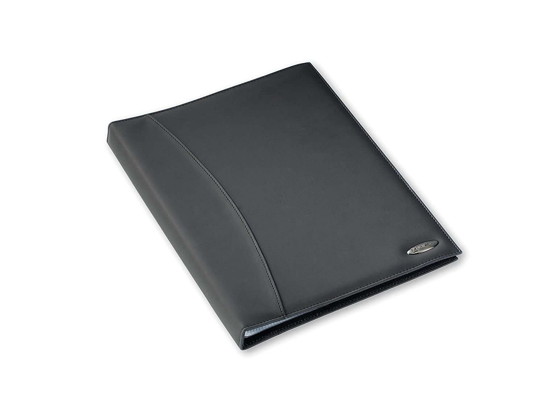 Rexel Soft Touch Smooth - Archivador con 24 fundas plásticas (A4, brillantes), color negro