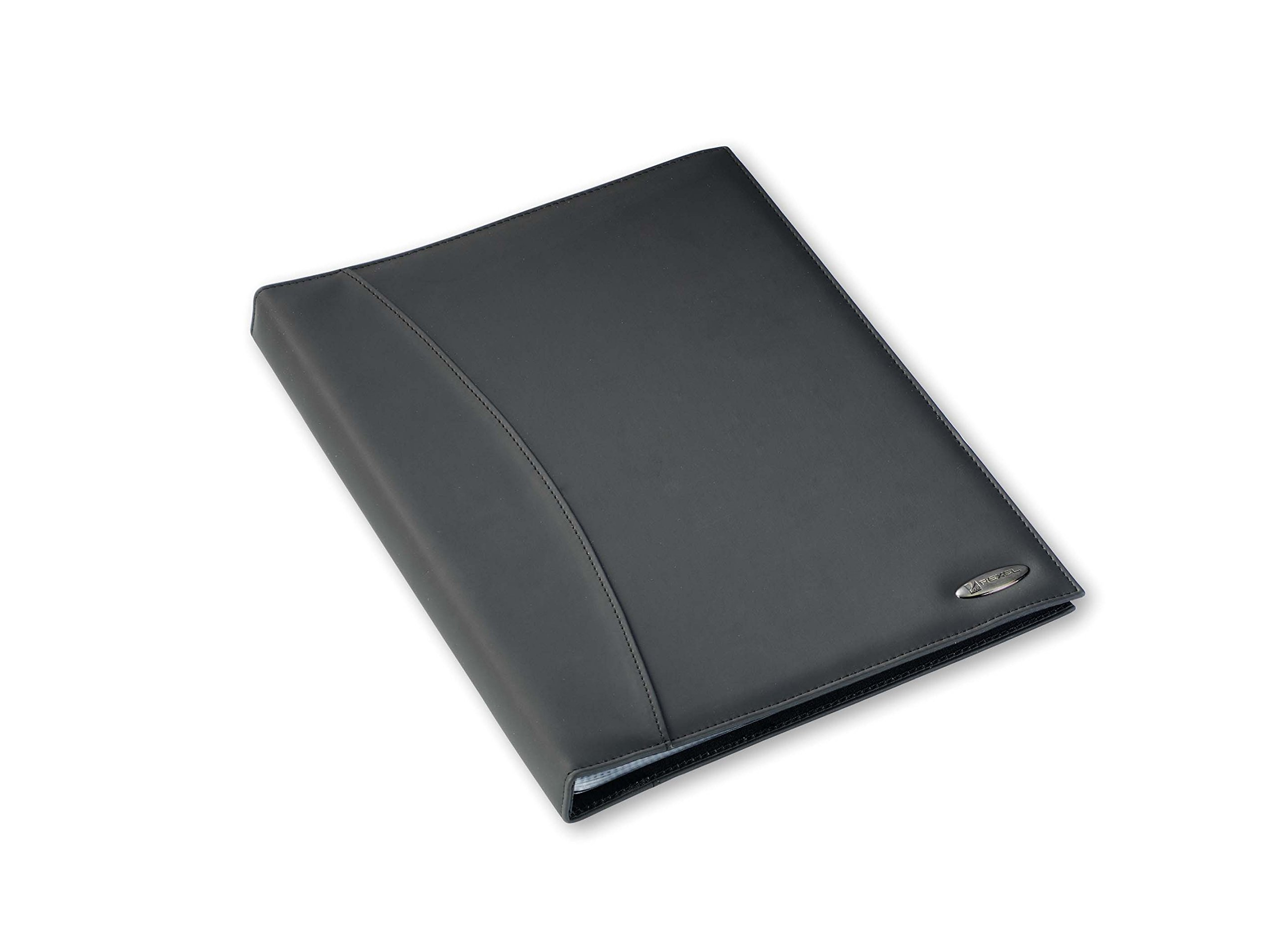 Rexel Soft Touch Display Book, Smooth Leather, 24 Pockets - Black