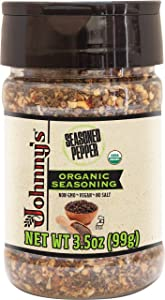 Johnny's Organic Seasoned Pepper - Case of 6 - 3.5 oz.
