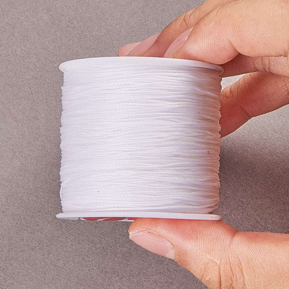 Pandahall Elite Filo Corde Cerato creazione di Braccialetti collane Gioielli Filo per Perline e mestiere 0.5mm Bianco Nero Marrone Scuro Viola
