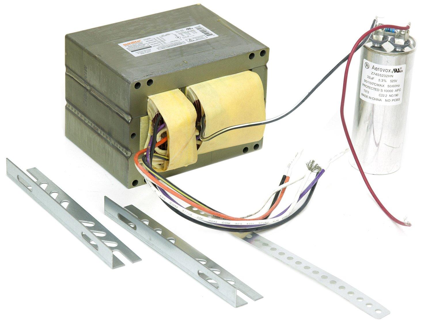 Sunlite 40340-SU SB1500/MH/QT 1500-watt Metal Halide Ballast Quad Tap Ballast Kit, Multi volt by Sunlite