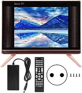 Pbzydu Televisor LCD HD DVB-T2 de 17 Pulgadas, Mini televisor portátil Sonido bajo 110-240V(UE): Amazon.es: Electrónica