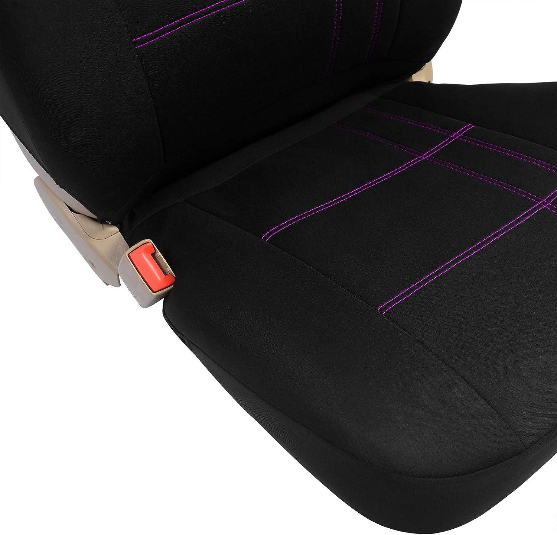 Pet Negro//Lila 0082QCZT EUGAD Juego de 5 Funda Asiento para Coche Universal Delantero y Traseros Cubre de Asiento Autom/óvil sin Airbag Espuma de 3mm