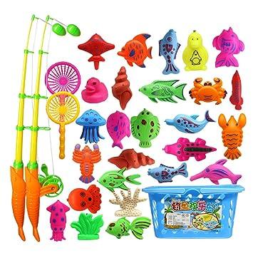 THE TWIDDLERS 39 Pack De Juguete Magn/ético De La Flotando Pesca con Ca/ña Educativa Juego Acci/ón Juguetes Reflejo para Beb/é Y Ni/ños para El Ba/ño Y como Juguetes De Piscina /& Ba/ñera