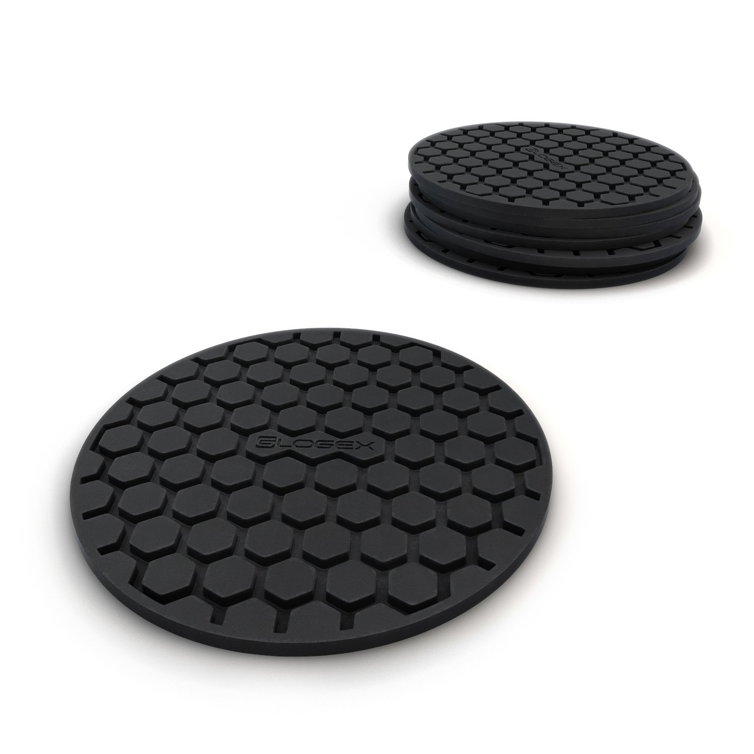 amazoncom amazing quality drink coaster set (pc) sleek modern  - amazoncom amazing quality drink coaster set (pc) sleek modern designprevents furniture damage absorbs spills and condensation