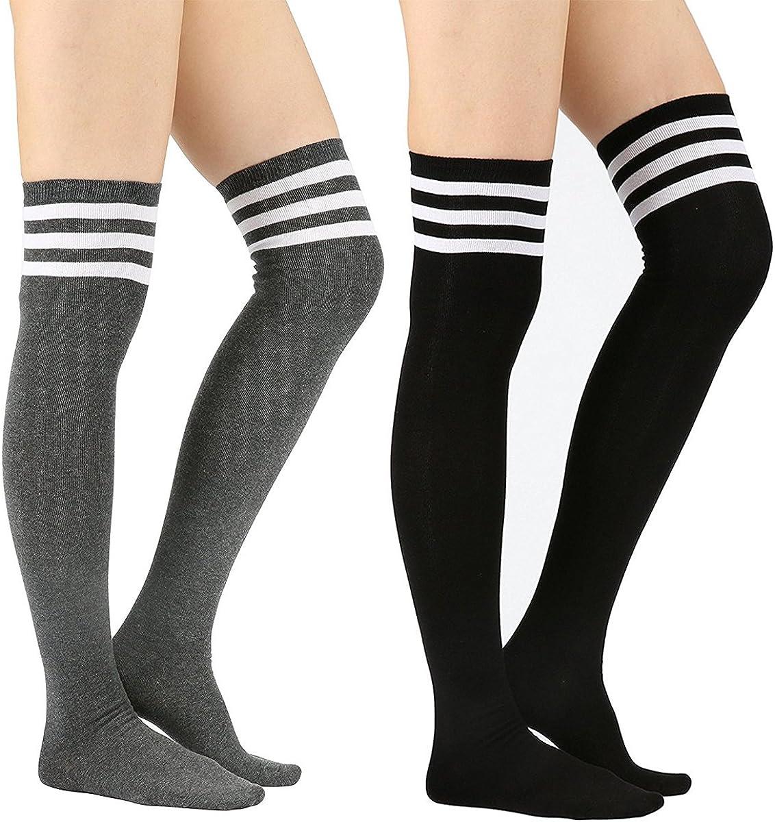 Stripey Striped  Overknee Over the Knee Long Socks Sox