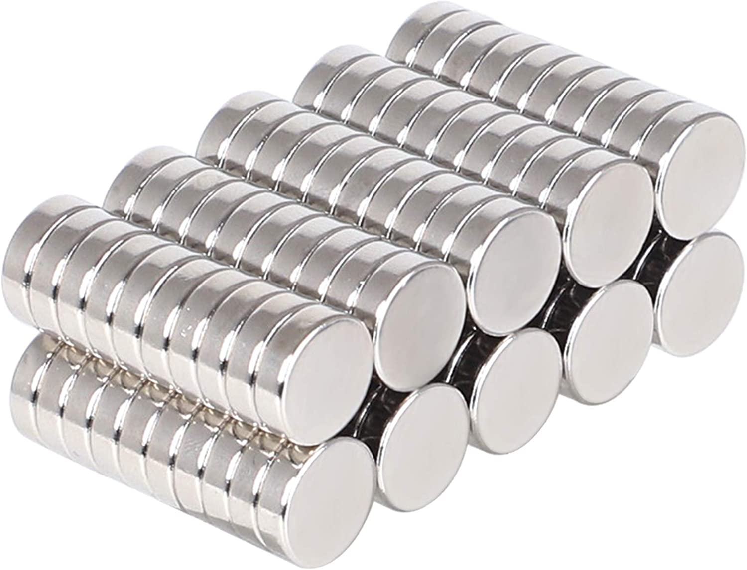 SMARTAKE 10 Pcs Push Pin Magnets /& 30 Pcs Round Refrigerator Magnets Multi-Use Premium Brushed Nickel for Fridge Office and School Kitchen Dry Erase Board in Home Whiteboard