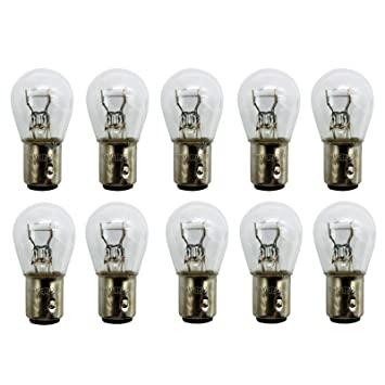 Amazon.com: BSK 10Pcs 12V P21/5W Car/Motorcycle Clear Turn Signal Light Bulb: Automotive