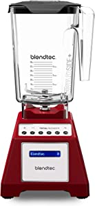 Blendtec Total Classic Original Blender - WildSide+ Jar (90 oz) - Professional-Grade Power - 6 Pre-programmed Cycles - 10-speeds - Red