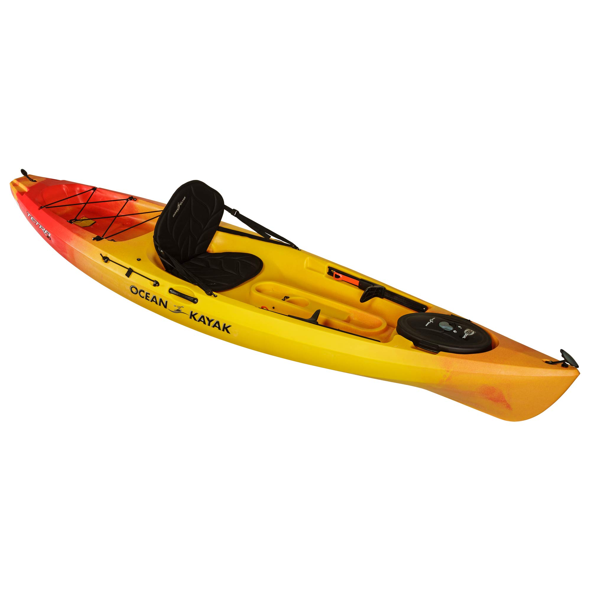 Ocean Kayak Tetra 10 One-Person Sit-On-Top Kayak, Sunrise, 10 Feet 8 Inches