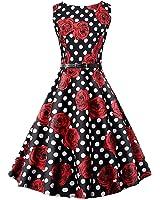 Eloise Isabel Fashion floral dots dress elegante o-pescoço das mulheres vestidos sem mangas plissadas