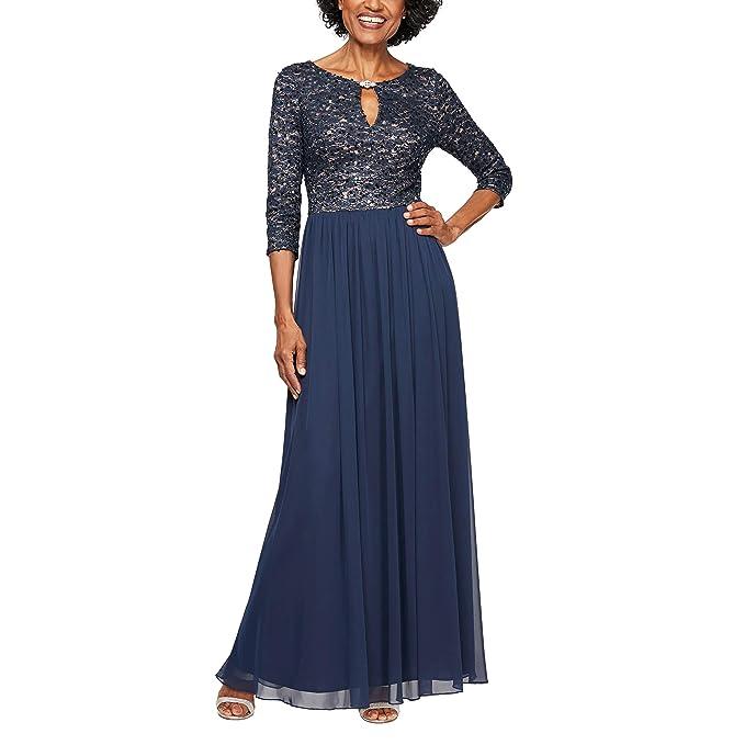 Alex Evenings Women\u0027s Plus Size Dress with Keyhole Cutout