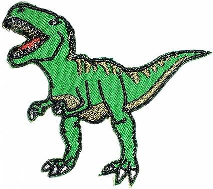 Amazon Com T Rex Dinosaurio Animal Extinct Tiranosaurio Parche Dibujos Animados Simbolo Diy Hierro En Patch Parche Para Planchar Utilizar Para Regalos Manualidades Jeans Ropa Tela Arte Manualidades Y Costura Con estos dibujos de dinosaurios podrás imprimir y pintar grandes animales que ya se han extinguido como el branquiosaurio, el velociraptor, el tiranosaurio o el diplodocus. t rex dinosaurio animal extinct