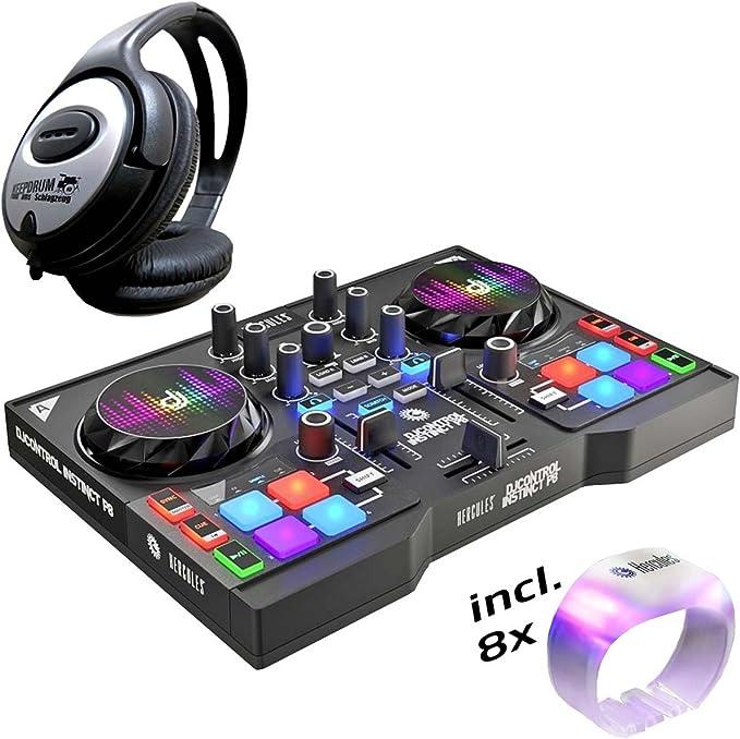 Controlador DJ de Hercules DJ, Instinct P8, pack de fiesta + ...