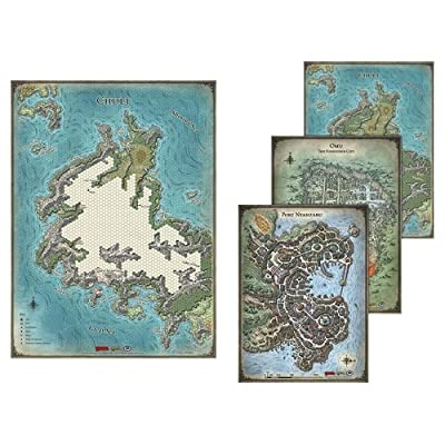 Gale Force Nine Dungeon & Dragons Tomb of Annihilation Map Set (4-Maps): Toys & Games