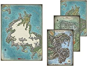 Gale Force Nine Dungeon & Dragons Tomb of Annihilation Map Set (4-Maps)