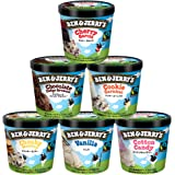 ベン&ジェリーズ アイスクリーム ギフトセット【人工着色料、香料不使用】 (人気セレクション 6個セット)