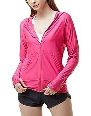 TESLA Women's UPF 50+ Full & Half Zip Front Long Sleeve Top Rashguard Swimsuit FSZ
