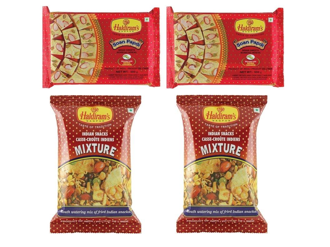 Haldiram's Nagpur Soan Papdi & Mixture (Combo Pack)