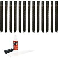 Tacki-Mac unificado Wrap no Taper–13piezas Kit de agarre de Golf (con cinta adhesiva, disolvente, abrazadera) (