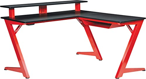 OSP Home Furnishings Avatar Battlestation L-Shape Gaming Desk