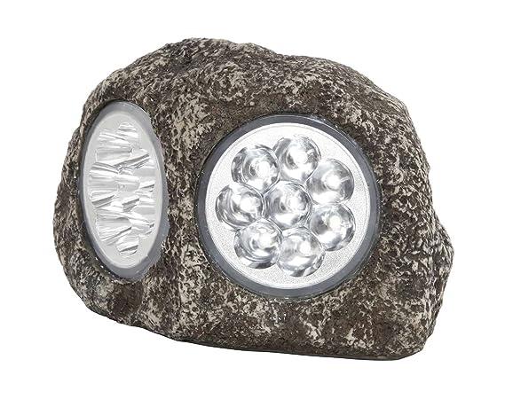 Pietra decorativa con lampada solare a led lampada solare da