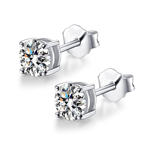 ab2882992 Fashion 925 Sterling Silver CZ Cubic Zirconia Stud Earrings for Men Women  5mm-7mm (White-E06): Amazon.ca: Jewelry