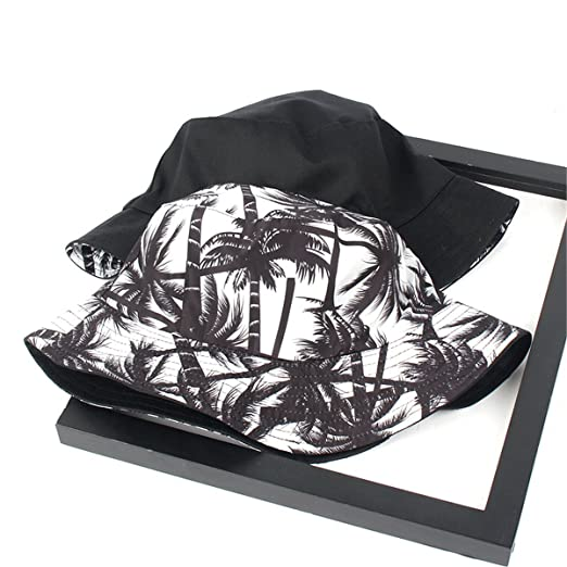 7d5675aed SUMBAGO Mens Two Sided Wearing Bucket Hat Simple Coconut Free Sun ...