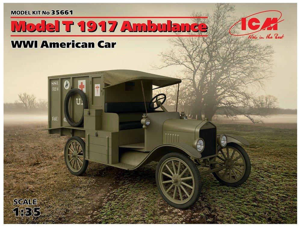 ICM Model kit Model T Ambulance 1917WWI American car 35661