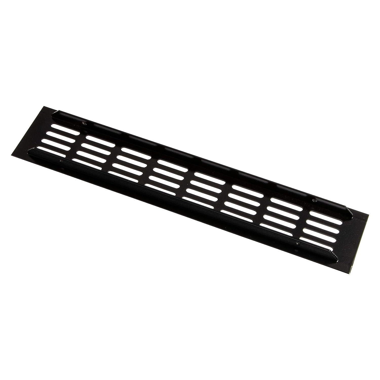 | MADE IN GERMANY 800 x 60 mm L/üftungsgitter T/ür-Gitter schwarz Abluftgitter Aluminium Wand uvm M/öbel-Gitter Alu f/ür Heizung 1 St/ück Bel/üftungsgitter eckig L/üftungsblech mit Schrauben